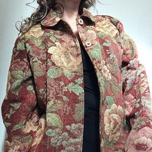 Vintage Floral blazer size  Xl.
